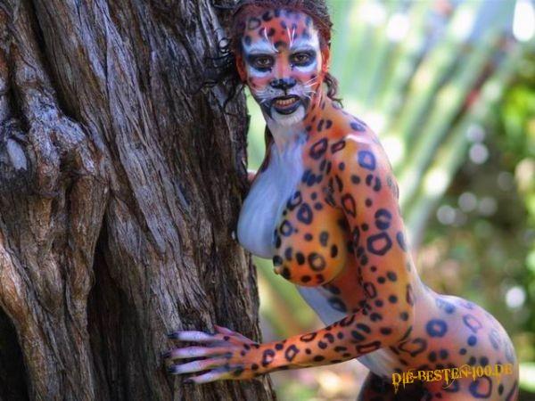 Die besten 100 Bilder in der Kategorie bodypainting: Bodypainting, Leopard
