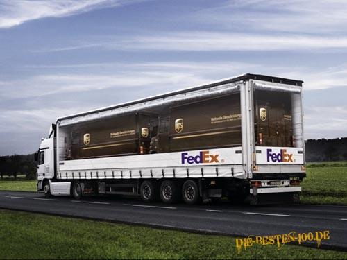 Die besten 100 Bilder in der Kategorie werbung: Fedex Ups Werbung