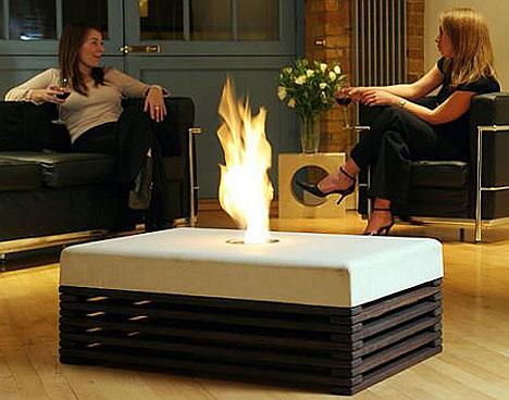 Die besten 100 Bilder in der Kategorie moebel: Indoor Grillen möglich - Feuerhocker- Feuertisch
