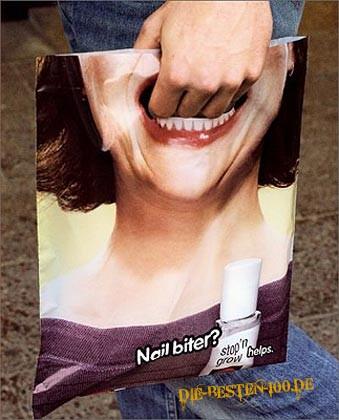 Die besten 100 Bilder in der Kategorie werbung: Nail biter? - Werbung