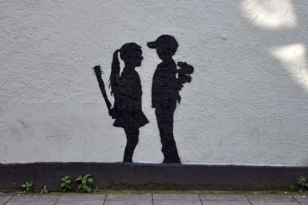 Die besten 100 Bilder in der Kategorie graffiti: einseitige Zuneigung - Graffiti