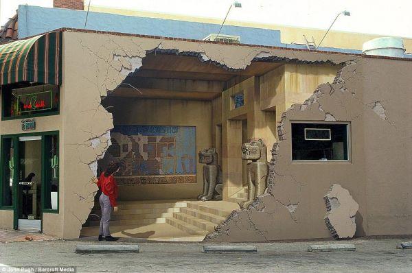 Die besten 100 Bilder in der Kategorie strassenmalerei: Gebäudemalerei - 3D Tempel