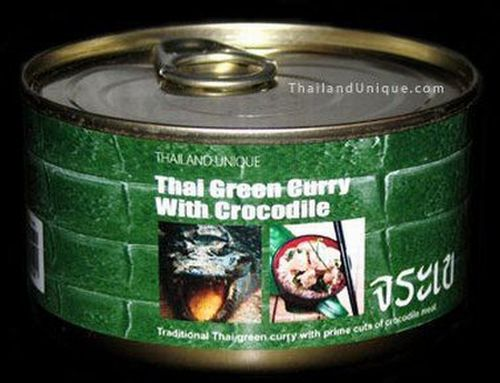 Thai Green Curry with Crocodile - Krokodil-Curry