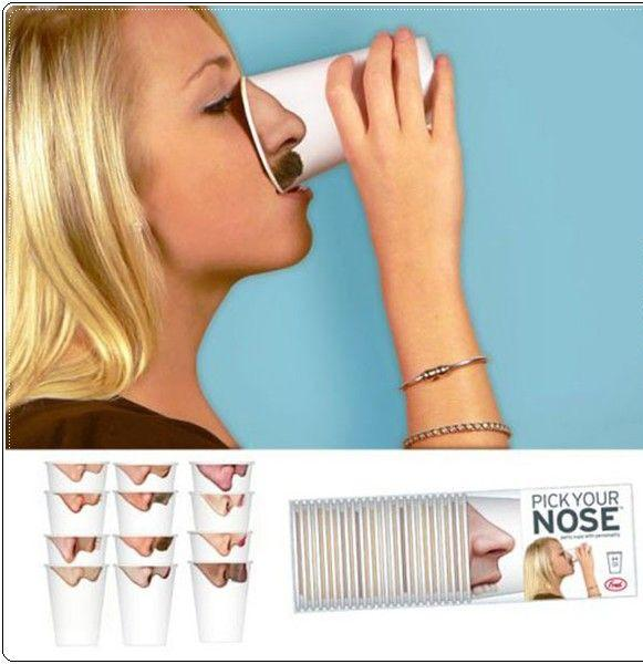 Pick your Nose - Becher -Werbung
