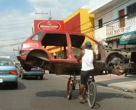Die besten 100 Bilder in der Kategorie transport: Auto mit dem Fahrrad transportieren