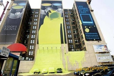 Die besten 100 Bilder in der Kategorie werbung: Gelbe Farbe kommt aus Werbeplakat für Farben