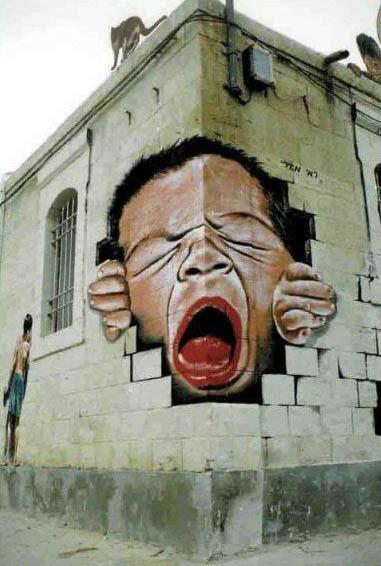 Die besten 100 Bilder in der Kategorie graffiti: optische Täuschung - Graffiti