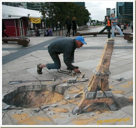 Die besten 100 Bilder in der Kategorie strassenmalerei: Eifelturm