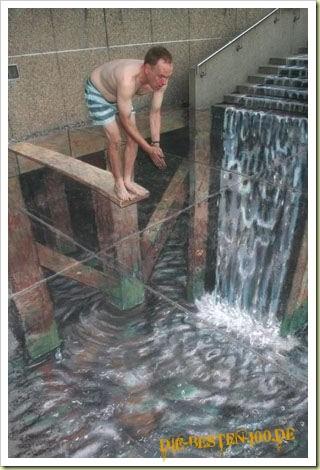 Die besten 100 Bilder in der Kategorie strassenmalerei: Bad in Fussgängerzone