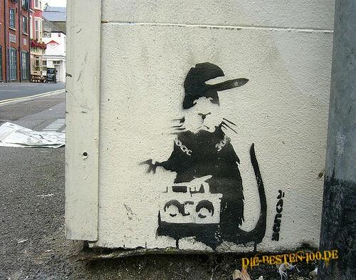 Die besten 100 Bilder in der Kategorie graffiti: coole Ratte