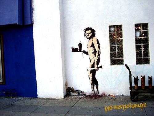 Die besten 100 Bilder in der Kategorie graffiti: McDonalds Neandertaler