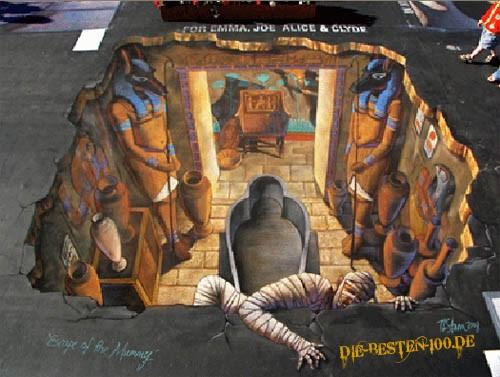 Die besten 100 Bilder in der Kategorie strassenmalerei: Mumie flüchtet