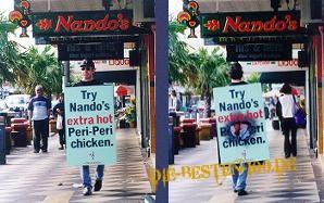 Die besten 100 Bilder in der Kategorie werbung: Try nando's extra hot peri-peri chicken.