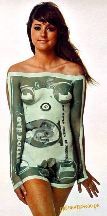 Die besten 100 Bilder in der Kategorie bodypainting: Dollarnote-Bodypainting