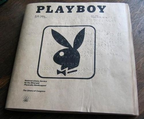 playboy, blindenschrift, blind, fun