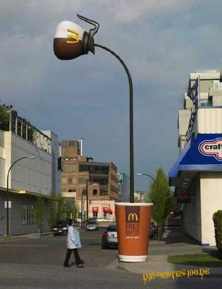 Die besten 100 Bilder in der Kategorie werbung: Mc Kaffee Werbung