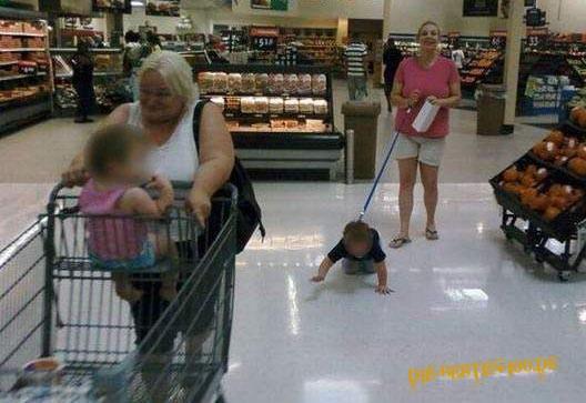 Die besten 100 Bilder in der Kategorie fail: Kind an der Leine in Supermarkt