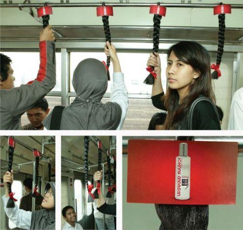 Die besten 100 Bilder in der Kategorie werbung: Haarpflege-Werbung in Straßenbahn