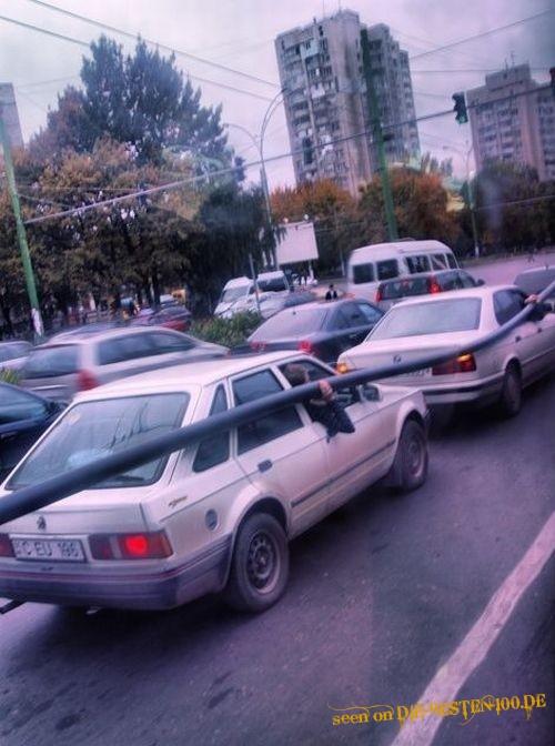 Die besten 100 Bilder in der Kategorie transport: Rohr-Transport mit 2 Autos