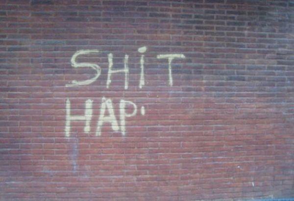 Die besten 100 Bilder in der Kategorie graffiti: Shit happens
