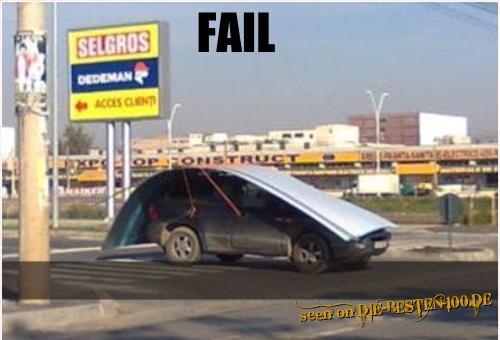 Die besten 100 Bilder in der Kategorie transport: Sicherheits-Fehler bei Blech-Transport - Safety FAIL