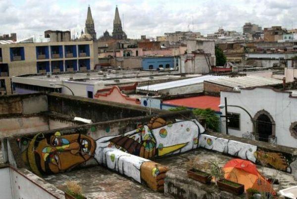 Die besten 100 Bilder in der Kategorie graffiti: Cooles 3D Graffiti - Liegender Mann