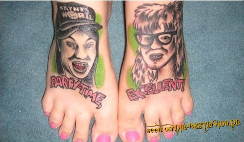 Waynes World Tattoo Partytime Excellent!