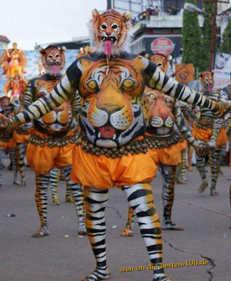 Die besten 100 Bilder in der Kategorie bodypainting: tiger-Bodypainting
