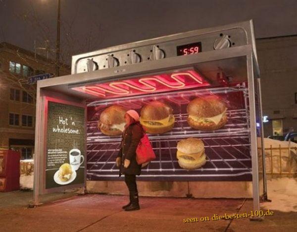 Die besten 100 Bilder in der Kategorie werbung: Bushaltestellen-Backofen