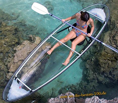 Die besten 100 Bilder in der Kategorie clever: Durchsichtiges Kajak - Plexiglasboot