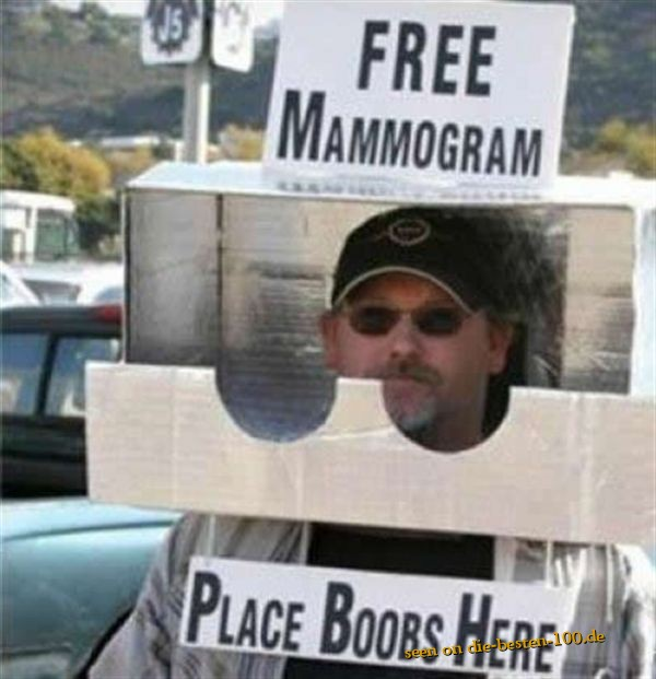Free Mammogram - Place Boobs Here