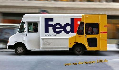 Die besten 100 Bilder in der Kategorie werbung: FedEx ist schneller Werbung