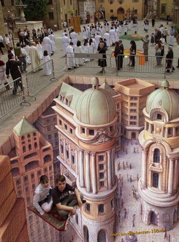 Die besten 100 Bilder in der Kategorie strassenmalerei: Sehr realistische Straßenmalerei