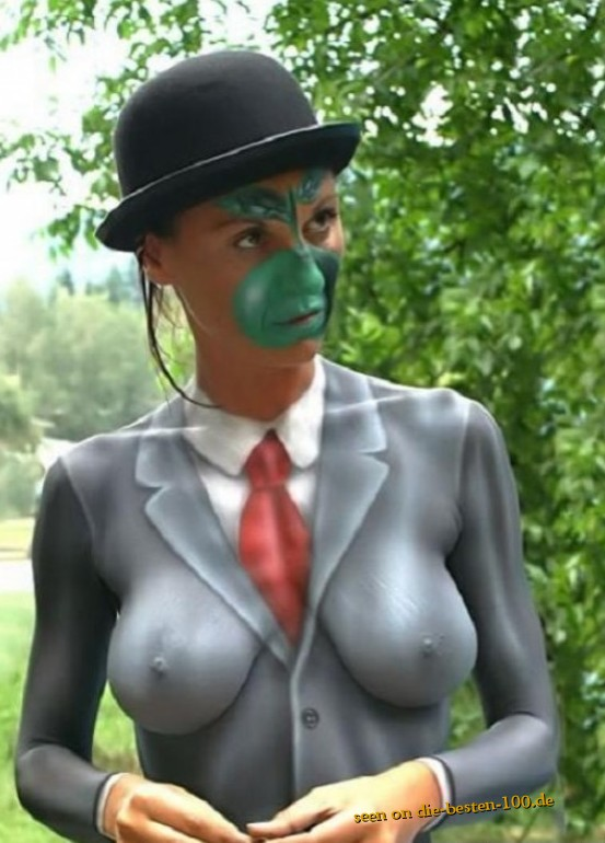 Die besten 100 Bilder in der Kategorie bodypainting: Besser als das Original - Kunst auf Körper - Rene Magritte