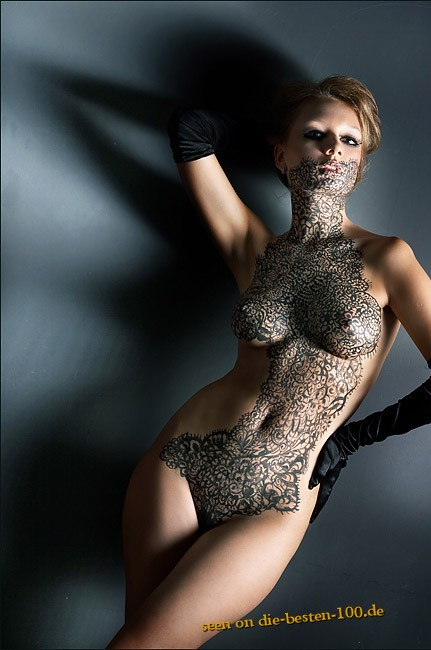 Die besten 100 Bilder in der Kategorie bodypainting: Feines und edles Ornamente/Struktur Bodypainting