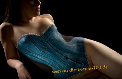 Die besten 100 Bilder in der Kategorie bodypainting: Erotisches Desous Bodypainting - sehr realistisch und schön Fotografiert