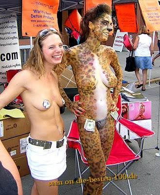 Die besten 100 Bilder in der Kategorie bodypainting: Leoparden-Bodypainting