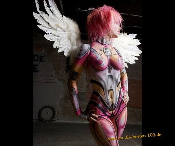Die besten 100 Bilder in der Kategorie bodypainting: Engel aus der Zukunft Bodypainting