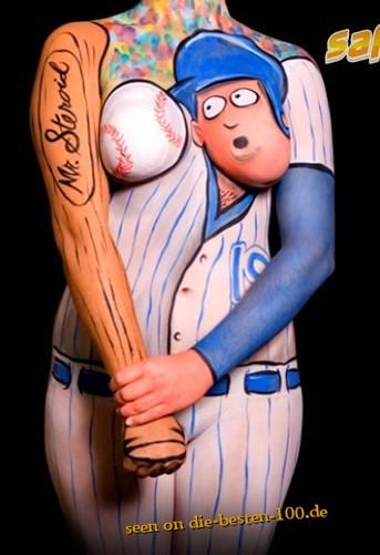 Die besten 100 Bilder in der Kategorie bodypainting: funny Baseball Bodypainting