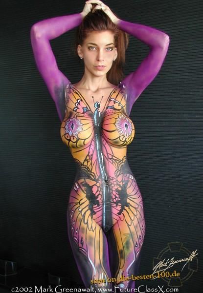 Die besten 100 Bilder in der Kategorie bodypainting: Schmetterlings-Ganzkörper-Bodypainting - Butterfly Bodypainting