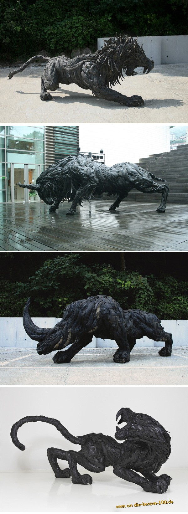 Die besten 100 Bilder in der Kategorie kunst: Skulpturen aus alten Autoreifen - awesome Tire-Art