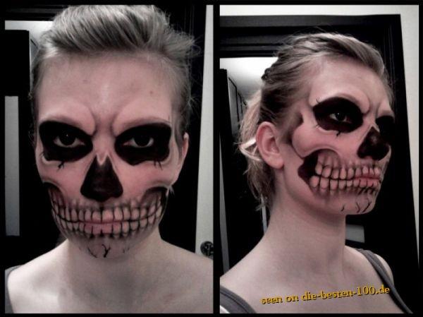 Die besten 100 Bilder in der Kategorie bodypainting: Face-Painting Skull