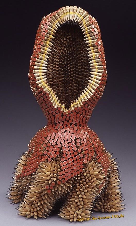 Die besten 100 Bilder in der Kategorie kunst: Bleistift-Skulptur - Made from Pensils