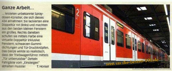 Die besten 100 Bilder in der Kategorie graffiti: train s-bahn türen fake