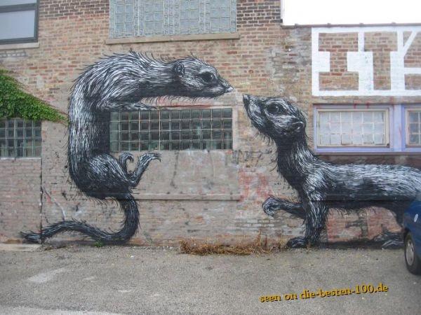 Die besten 100 Bilder in der Kategorie graffiti: Rodents on Wall