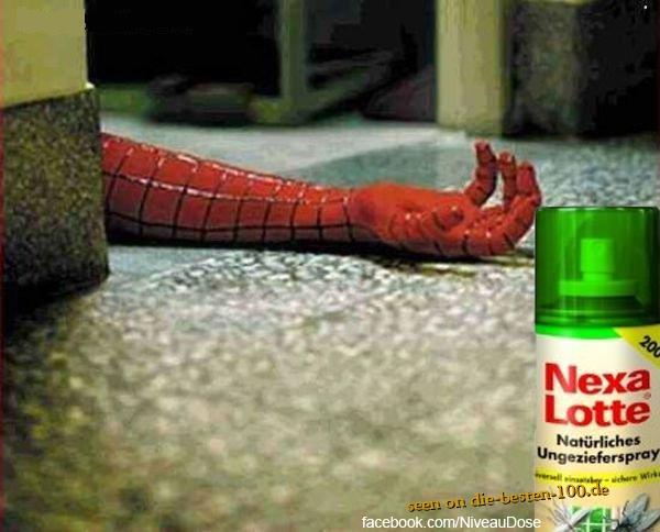 Die besten 100 Bilder in der Kategorie werbung: Ungeziefer Spray Werbung mit Spiderman