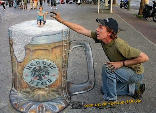 Giant Beer -  Awesome 3D Street Art