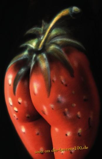 Die besten 100 Bilder in der Kategorie bodypainting: Erdbeeren-Gesäß-Bodypainting