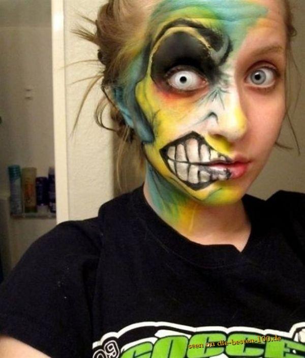 Die besten 100 Bilder in der Kategorie bodypainting: Alien Gesichts-Bemalung