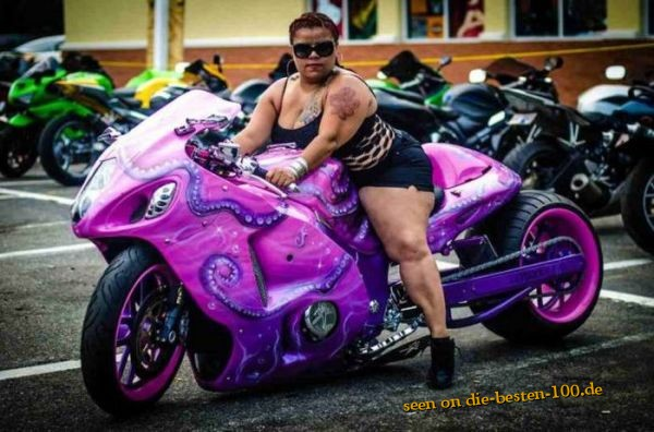 Pink Monster Motorcycle